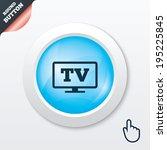 widescreen tv sign icon....