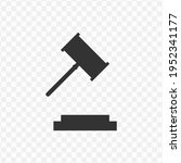 transparent trial hammer icon...