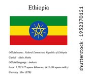 ethiopia national flag  country'...   Shutterstock .eps vector #1952370121