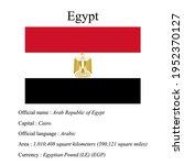 egypt national flag  country's...   Shutterstock .eps vector #1952370127