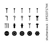 icon set of screw and nails ... | Shutterstock .eps vector #1952371744