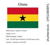 ghana national flag  country's...   Shutterstock .eps vector #1952380891