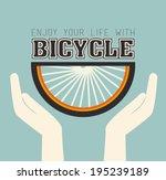 bike design over blue... | Shutterstock .eps vector #195239189