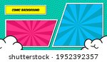 pop art comic layout panel...   Shutterstock .eps vector #1952392357