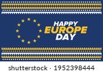 europe day. annual public... | Shutterstock .eps vector #1952398444
