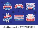 happy labor day sticker...   Shutterstock .eps vector #1952400001