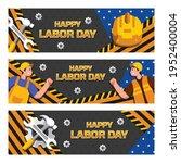 happy labor day banner...   Shutterstock .eps vector #1952400004