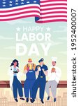 labor day with people of...   Shutterstock .eps vector #1952400007