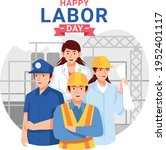 labor day with people of...   Shutterstock .eps vector #1952401117