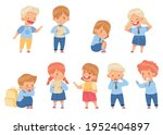 angry kids bullying and abusing ...   Shutterstock .eps vector #1952404897
