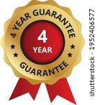 4 year guarantee badge ... | Shutterstock .eps vector #1952406577