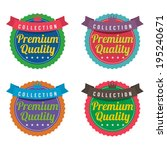 set of colorful round labels | Shutterstock .eps vector #195240671