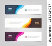 vector abstract banner design... | Shutterstock .eps vector #1952424757