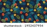 tropical summer seamless... | Shutterstock .eps vector #1952437954