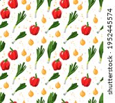 seamless repeating pattern with ... | Shutterstock .eps vector #1952445574