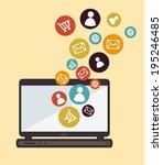 technology design over beige... | Shutterstock .eps vector #195246485