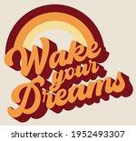 retro motivational wake your...   Shutterstock .eps vector #1952493307