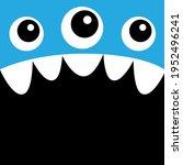 monster head. boo spooky... | Shutterstock .eps vector #1952496241