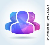 user community icon with... | Shutterstock .eps vector #195252275