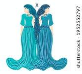 zodiac  gemini zodiac sign... | Shutterstock .eps vector #1952552797