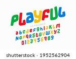 playful colorful font design ...   Shutterstock .eps vector #1952562904