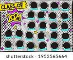 photo frame for class of 2021... | Shutterstock .eps vector #1952565664