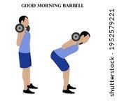 good morning barbell exercise... | Shutterstock .eps vector #1952579221
