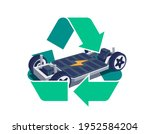 modern electric car chassis... | Shutterstock .eps vector #1952584204