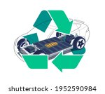 modern electric car chassis... | Shutterstock .eps vector #1952590984