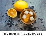 glass of homemade lemonade with ...   Shutterstock . vector #1952597161