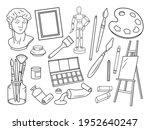 set of artist supplies.... | Shutterstock .eps vector #1952640247