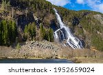 Vidfoss 48th highest waterfall in Norway. He is located in Hildal in Ullensvang municipality in Vestland, Norway.