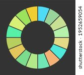 pie charts vector colorful... | Shutterstock .eps vector #1952659054