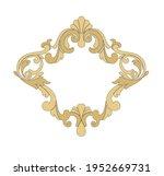 ancient heraldic emblem of gold ... | Shutterstock .eps vector #1952669731