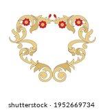 ancient heraldic emblem of gold ... | Shutterstock .eps vector #1952669734