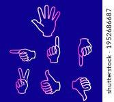 finger icon set. line icon... | Shutterstock .eps vector #1952686687