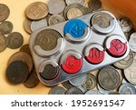 Old Soviet Coin Box On The...