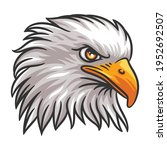 graphic head of an eagle mascot ... | Shutterstock .eps vector #1952692507