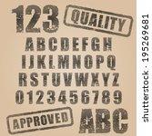 vector stamp abc | Shutterstock .eps vector #195269681