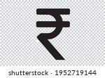 rupee icon symbol. indian... | Shutterstock .eps vector #1952719144