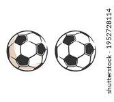 soccer ball icon  simple black... | Shutterstock .eps vector #1952728114