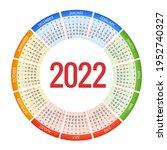 round calendar planner for 2022.... | Shutterstock .eps vector #1952740327