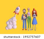 startup business concept. group ... | Shutterstock . vector #1952757607