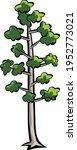 doodle tree illustration... | Shutterstock .eps vector #1952773021