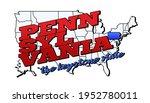 Pennsylvania State. Vector...