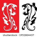 the tiger panther tattoo black...   Shutterstock .eps vector #1952804437