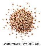 Dry Coriander Seeds Heap Close...