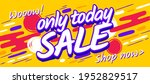only today sale banner template.... | Shutterstock .eps vector #1952829517