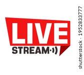 vector media icon live stream.... | Shutterstock . vector #1952833777