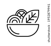 salad thin line icon isolated...   Shutterstock .eps vector #1952879941